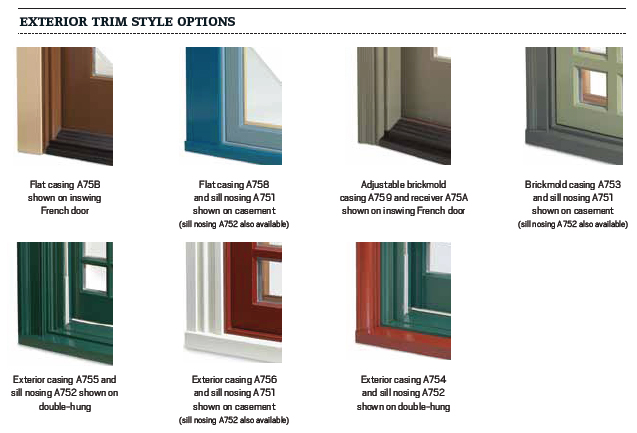 Andersen Windows Trim Colors